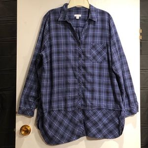 J Jill flannel shirt.  Size XL